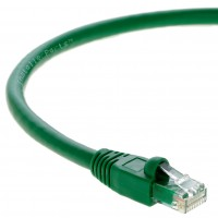 75Ft Cat6A UTP Ethernet Network Booted Cable Green
