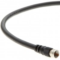 100Ft F-Type Screw-on RG6 Cable Black