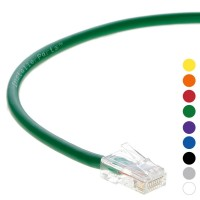 0.5 Ft CAT 6 Non-Boot Patch Cable Green -- Professional Series -- 50 Micron Gold Plated RJ45 Connectors -- Ethernet Data Network
