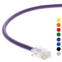 0.5 Ft CAT 6 Non-Boot Patch Cable Purple -- Professional Series -- 50 Micron Gold Plated RJ45 Connectors -- Ethernet Data Network