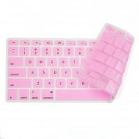 """Otimo Macbook Silicone Keyboard Cover -- TPU Mac Keyboard Skin Compatible w/ MacBook Pro 13"""" 15"""" 17"""" , iMac -- Pink"""