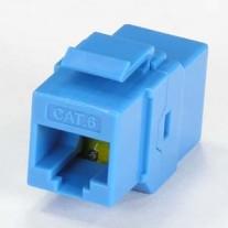 Cat.6 Inline Coupler w/Keystone Latch Blue