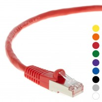 3 Ft CAT 6 Shielded (SSTP) Patch Cable Molded Red -- Professional Series -- 50 Micron Gold Plated RJ45 Connectors -- Ethernet Data Network