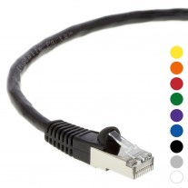 4Ft CAT 6 Shielded (SSTP) Patch Cable Molded Black -- Professional Series -- 50 Micron Gold Plated RJ45 Connectors -- Ethernet Data Network