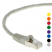 10Ft CAT 5E Shielded Patch Cable Molded Gray -- Professional Series -- 50 Micron Gold Plated RJ45 Connectors -- Ethernet Data Network