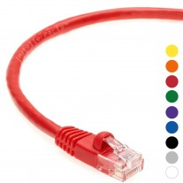1 FT Ethernet Cable CAT5E Cable UTP Booted - Red - Professional Series - 1Gigabit/Sec Network / Internet Cable, 350MHZ