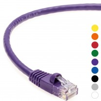 10 FT Ethernet Cable CAT5E Cable UTP Booted - Purple - Professional Series - 1Gigabit/Sec Network / Internet Cable, 350MHZ