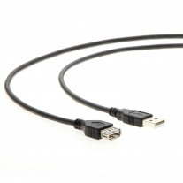 6Ft A-Male to A-Female USB2.0 Extension Cable Black