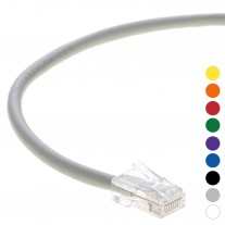 5 Ft CAT 6 Non-Boot Patch Cable Gray -- Professional Series -- 50 Micron Gold Plated RJ45 Connectors -- Ethernet Data Network