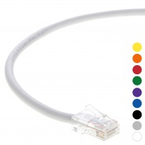 5 Ft CAT 6 Non-Boot Patch Cable White -- Professional Series -- 50 Micron Gold Plated RJ45 Connectors -- Ethernet Data Network