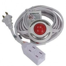 Lighted Foot Switch with 9 Ft 3 Outlet Cord -- White Extension Cable