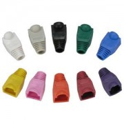 Color Boots for RJ45 Plug White 20pk