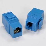 Cat.5E Inline Coupler w/Keystone Latch Blue