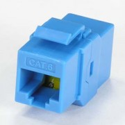 Cat.6 Inline Coupler w/Keystone Latch Blue