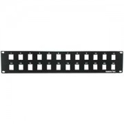 "2U 19"" 24port Blank Panel for Keystone Jack -- Universal Works With Most Keystone Types"