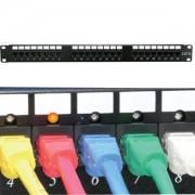 Cat.6 110 Patch Panel 24Port Rackmount w/LED Indicator