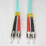 2m ST-ST 10Gb 50/125 LOMMF M/M Duplex Fiber Cable