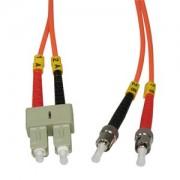 1m ST-SC Duplex Multimode 62.5/125 Fiber Optic Cable