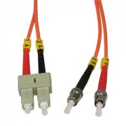 0.3m ST-SC Duplex Multimode 62.5/125 Fiber Cable
