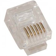 RJ12 (6P6C) Plug for Stranded Round Wire 100pk