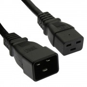 Otimo 3 Ft  Power Cord C19 to C20 Black/ SJT 14/3
