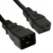 Otimo 15 Ft  Power Cord C19 to C20 Black/ SJT 14/3