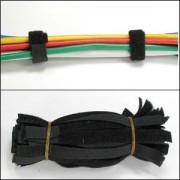 "9"" Velcro Strap 1/2"" Width Black, 50pc Pack"