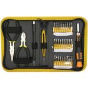 InstallerParts 35 Pieces Precision Screw Driver Set -- Includes Driver, Extension Shaft, 30 Various Standard, Phillips, Torx & Hex Bits, Needle Nose P