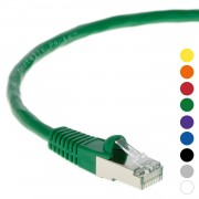 50Ft CAT 5E Shielded Patch Cable Molded Green -- Professional Series -- 50 Micron Gold Plated RJ45 Connectors -- Ethernet Data Network