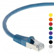 150Ft CAT 6 Shielded (SSTP) Patch Cable Molded Blue -- Professional Series -- 50 Micron Gold Plated RJ45 Connectors -- Ethernet Data Network