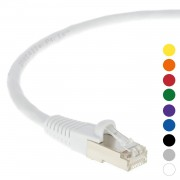 6Ft CAT 6 Shielded(SSTP) Patch Cable Molded White -- Professional Series -- 50 Micron Gold Plated RJ45 Connectors -- Ethernet Data Network