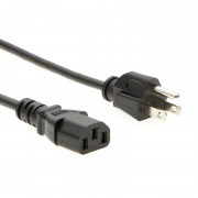 1.5Ft Computer Power Cord 5-15P to C-13 Black / SVT 18/3
