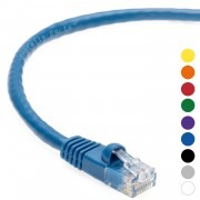 1 FT Ethernet Cable CAT5E Cable UTP Booted - Blue - Professional Series - 1Gigabit/Sec Network / Internet Cable, 350MHZ