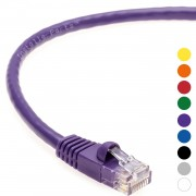 9Ft CAT 6 Molded Snagless Patch Cable Purple -- Professional Series -- 50 Micron Gold Plated RJ45 Connectors -- Ethernet Data Network