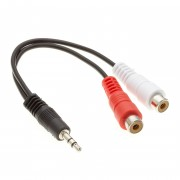 6 inch 3.5mm Stereo Plug to 2xRCA-F Cable