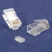 InstallerParts RJ45 Cat 6 Plug Stranded 50 Micron w/ Inserter 100pk