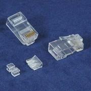 InstallerParts RJ45 Cat 6A Plug Stranded 50 Micron 3pc type 100pk