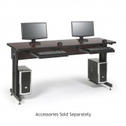 """72"""" W x 24"""" D Training Table - African Mahogany"""