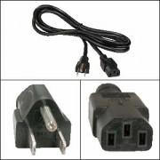5Ft Computer Power Cord 5-15P to C-13 Black SVT 18/3