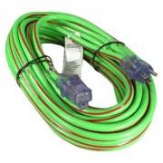 50Ft 12/3 SJTW heavy Duty Power Cord w/LED Green