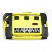 Otimo 5 Ft Heavy Duty Metal Case Power Strip, 5 + 3 Power Supply