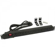 """Otimo 19"""" Rackmount 12-Outlet PDU Plastic Case 6 Ft Power Cord AC125V 12A UL"""