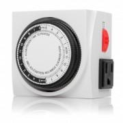 Otimo 120V Dual Outlet Mechanical  24 Hour Timer 3-Prong  Plug