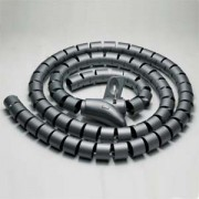 """Spiral Cable Zip Wrap Black 25mm x 1.5m (1"""" x 4.92Ft)"""