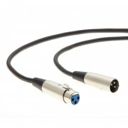 3Ft XLR 3P Male/Female Microphone Cable -- Balanced -- Professional Series -- Stage, DJ, Pro, Studio Sound Cable