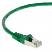 4Ft CAT 5E Shielded Patch Cable Molded Green -- Professional Series -- 50 Micron Gold Plated RJ45 Connectors -- Ethernet Data Network