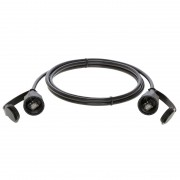 125Ft Cat.6 SSTP Industrial Outdoor Patch Cable w/Dust Cap Black