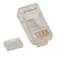 RJ45 Cat.6 Plug for Solid 50Micron 20pk