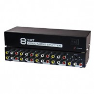 8 Way Audio Video (3RCA) Splitter