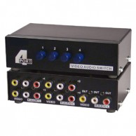 4 Way Audio Video (3RCA) Input Selector